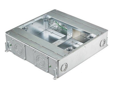 """CFB4G30   Box for concrete floor (CFB serie) 4 gang 3.00"""" Recessed Hubbell"""