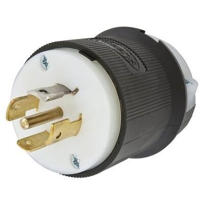 HBL2511  Plug twist-lock 4P5W 20A 120/208V (L21-20P) black Hubbell