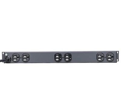 "RS-1215  Power strips horizontal 19"" front 6/ rear 6 outlets 15A/120/250V NEMA 5-15P black Tripp lite"