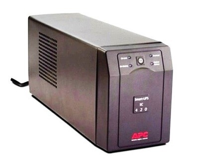 SC420   UPS 420VA Smart-UPS (in 120V nema 5-15P)(out 120V 4 nema 5-15R) Cord 1.83Mtrs Apc
