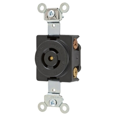 HBL7582G   Receptacle twist-lock 2P3W 10A/250V-15A/125V non-nema black Hubbell