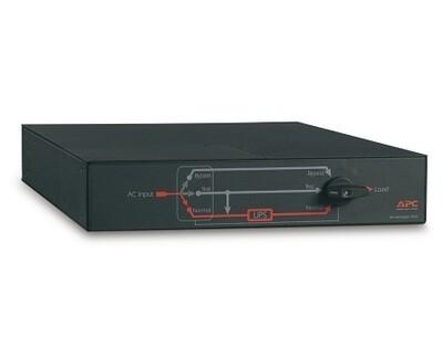 SBP5000RMT2U   Service Bypass Panel  200/208/240V 30A BBM L6-30P input (2) L6-30R (2) L6-20R output Apc