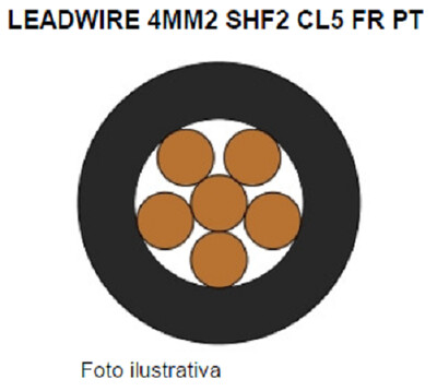 59221314   Power Cable 1Cond AWG12 Voltage 0.6/1Kv bare copper class 5 temperature 90ºC black Belden/Poliron