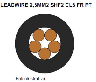 59221313   Power Cable 1Cond AWG14 Voltage 0.6/1Kv bare copper class 5 temperature 90ºC black Belden/Poliron
