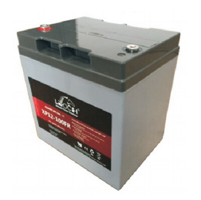 XP12-100FR   Battery XP 12V 27.0AH L(6.46 inches) x W(4.92 inches) x T H(6.89 inches) Weight 17.4LBS Leoch