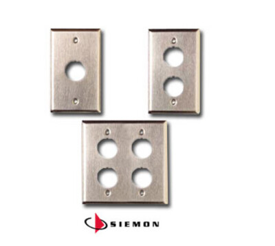 XFP-S-01-SS   Faceplate 1 PTO industrial MAX stainless steel IP44 Siemon