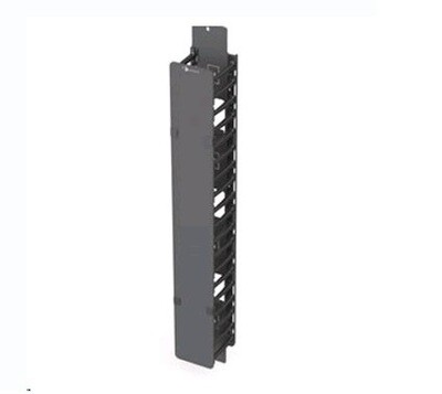 """V8A-VPC4-1-42   Organizer vertical 45U Half-height Zero-U Patching Channel with 4"""" (102mm) fingers and cover black Siemon"""