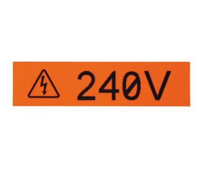 """T024X000VPC-BK   Label cassette continuous tape 0.24""""W terminal block Black on yellow Panduit"""