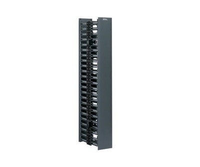 "WMPV22E Organizer Vertical 22.5U 41.50""H x 4.9""W x 12""D dual sided with cover black Panduit"