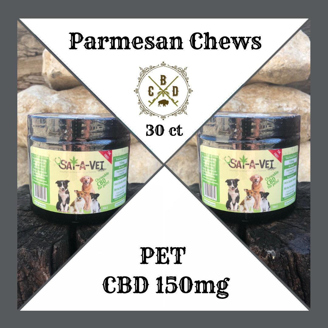 Pet Chews 150mg (30 ct) - Parmesan