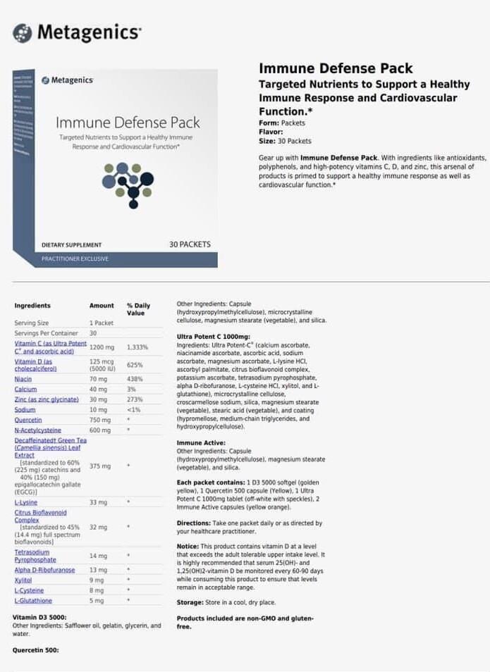 Metagenics-Immune Defense Pack