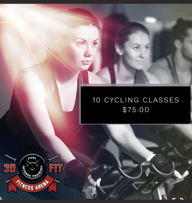 Cycling classes 10 for $75.00