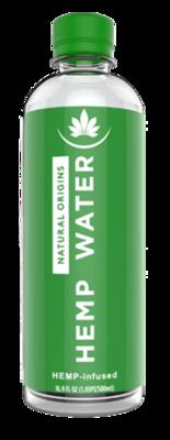Natural Origins Hemp Water 16.9oz 12 Pack Case