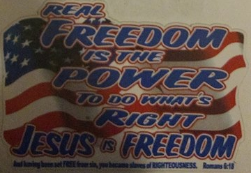 Real Freedom Decal