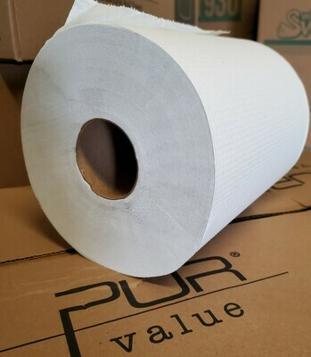 Rolled White Paper Towel