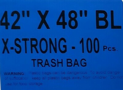 42 X 48 Xtra Strong Black Garbage Bags