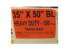 35x50 Garbage Bags Heavy Duty Black 100 Bags / Case