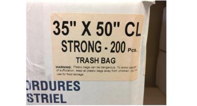 35x50 Garbage Bags Strong Clear 200 Bags / Case