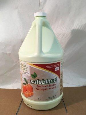 Safeblend Neutral Cleaner Tangerine Oil 4l