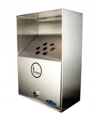 Ashtray Heavy Duty Stainless Steel  Outdoor Bin Frost #909