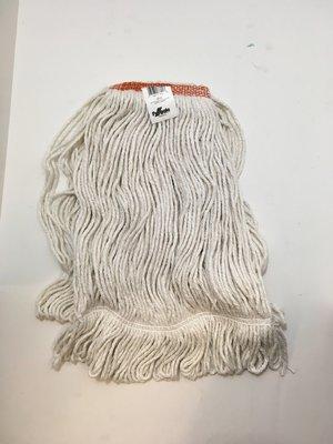 Wet Mop Head Looped White Narrow Band Synthetic 20oz Medium