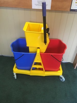 Mop Bucket & Wringer (Blue&Red) with One wringer(yellow)