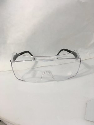 Safety Glasses ox black frame clear