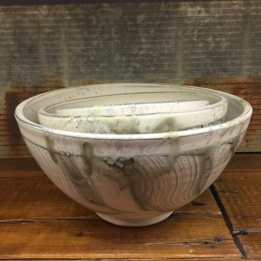 Large Nesting Bowl Stormstone