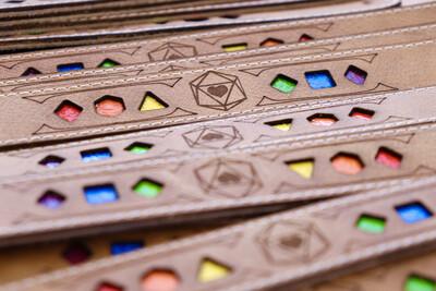 Rainbow Polyhedral Dice Pride Bracelet