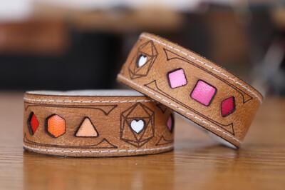 Community Lesbian Polyhedral Dice Pride Bracelet