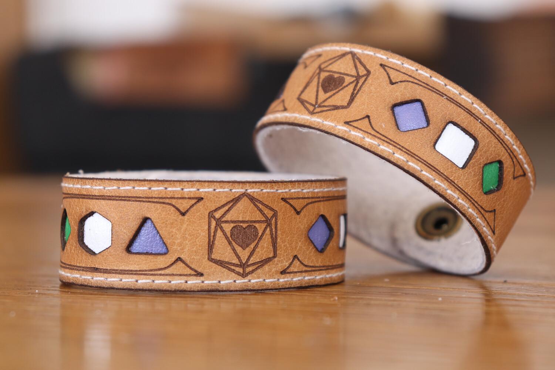 Genderqueer Polyhedral Dice Pride Bracelet