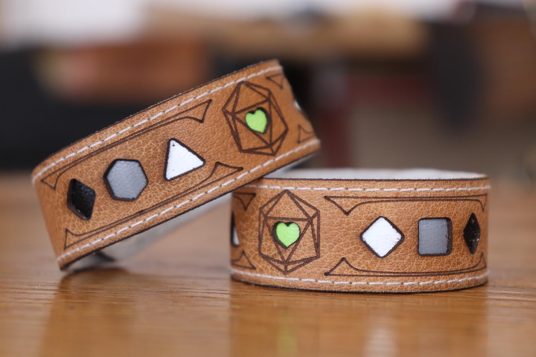 Agender Polyhedral Dice Pride Bracelet