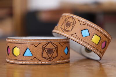 Pansexual Polyhedral Dice Pride Bracelet