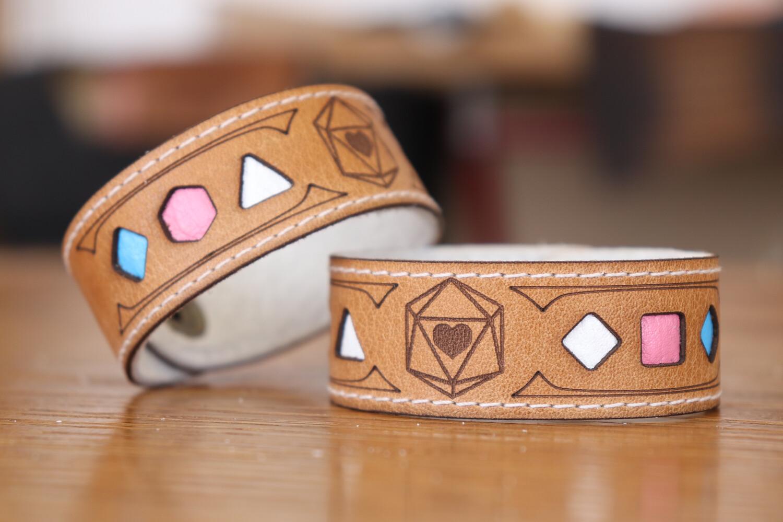 Transgender Polyhedral Dice Pride Bracelet