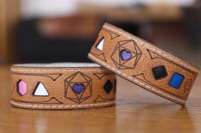 Genderfluid Polyhedral Dice Pride Bracelet