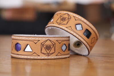 Asexual Polyhedral Dice Pride Bracelet
