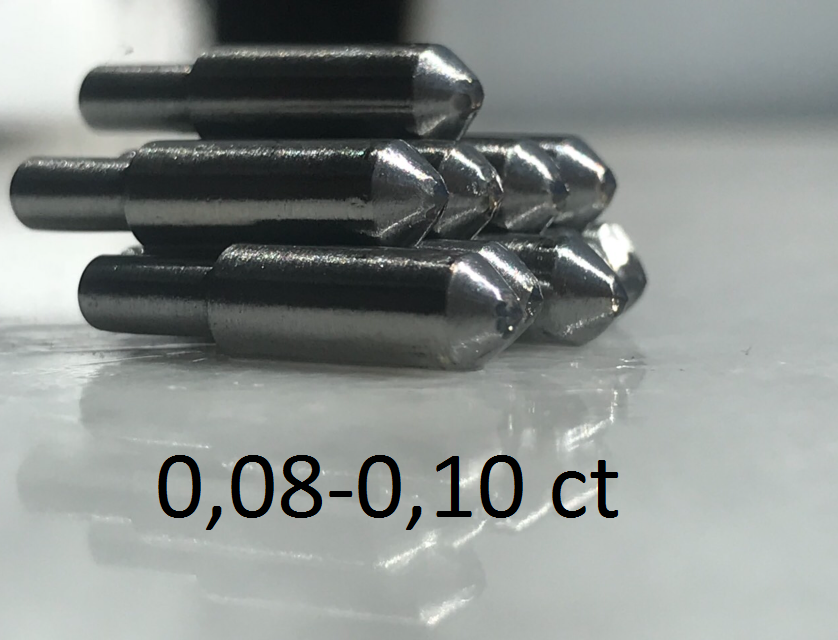 0,08-0,10ct (САУНО) - ПРИРОДНЫЙ АЛМАЗ