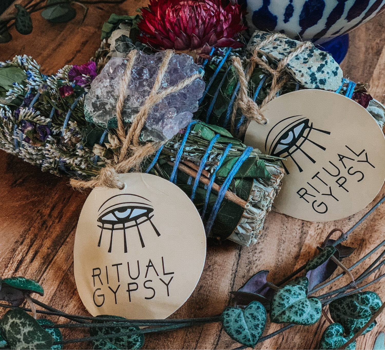 Sage Bundle With Healing Stone