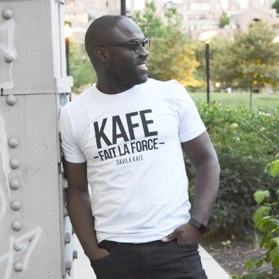 Kafe Fait la Force - Haitian Creole T-shirt for Men