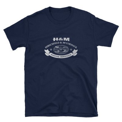 Short-Sleeve H&M Marine T-Shirt
