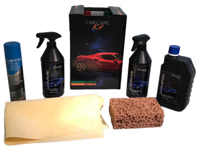CAR CARE KIT per la pulizia e rifinitura dell'auto