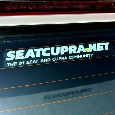 SEATCUPRA.NET Reusable Window Sticker