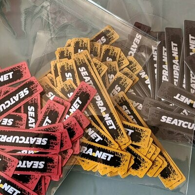 SEATCUPRA.NET x3 Multipurpose Waterproof Permanent Stickers