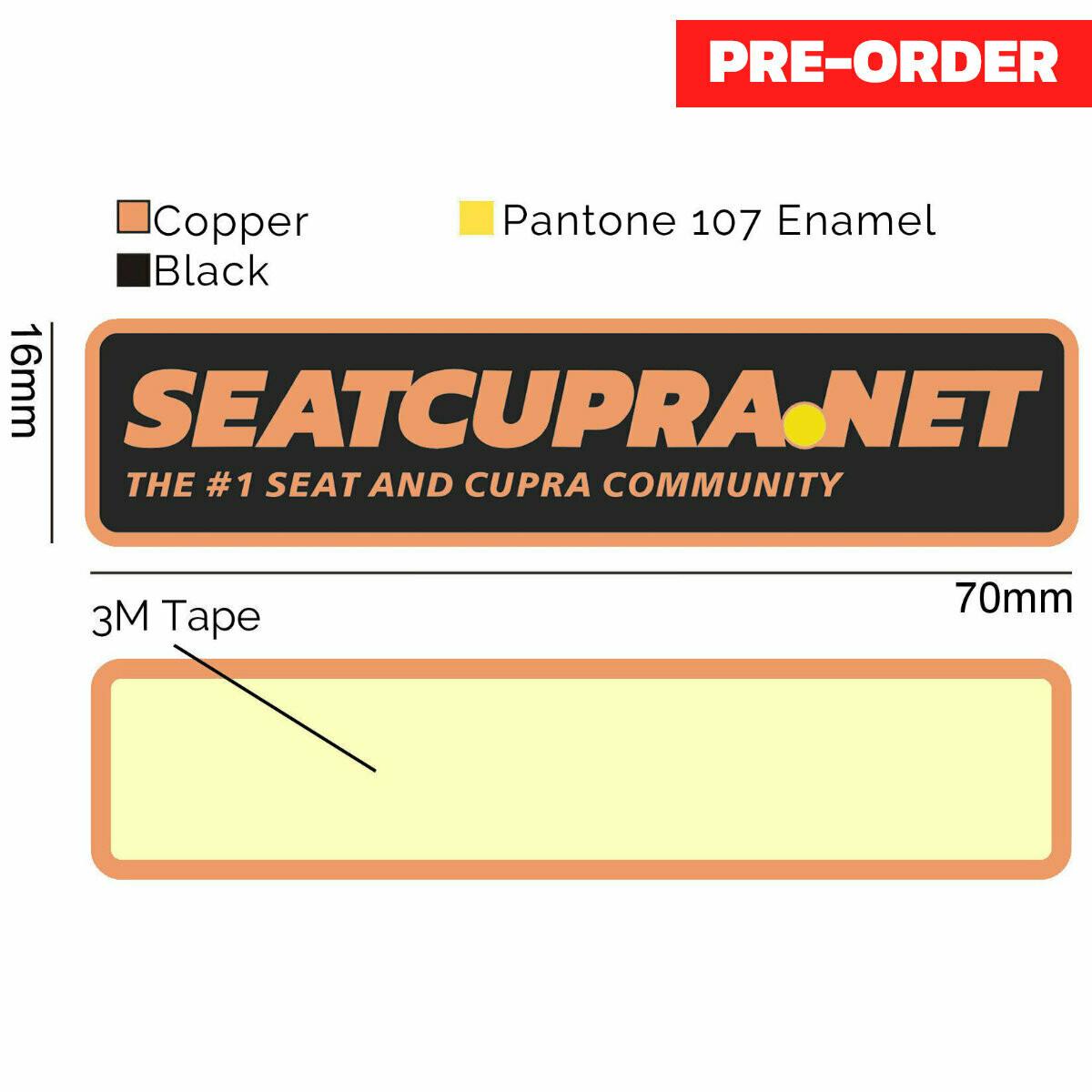 Copper Car Badge (OEM Quality)