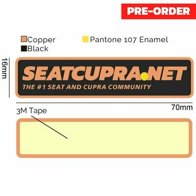 Copper Car Badge (OEM Quality)