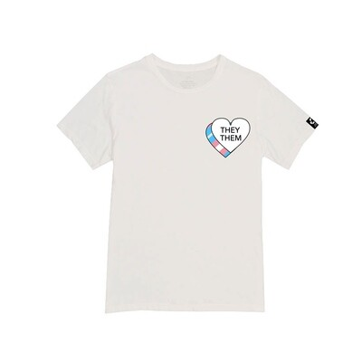 THEY/THEM Heart Unisex Tee