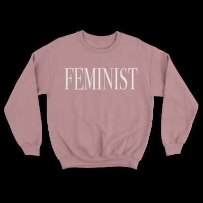 FEMINIST Dusty Pink Unisex Sweatshirt