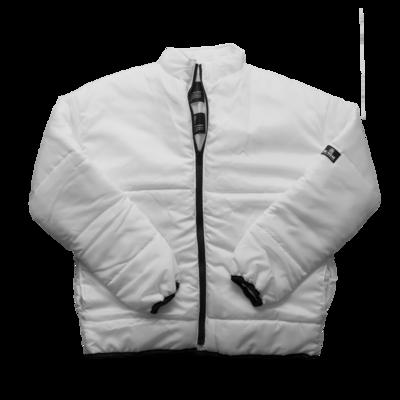 Eco Puffer White Unisex Jacket