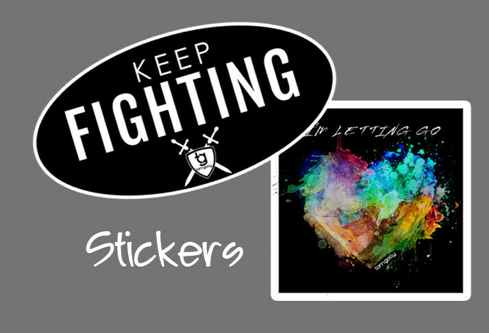 KEEP FIGHTING & I'M LETTING GO DECALS