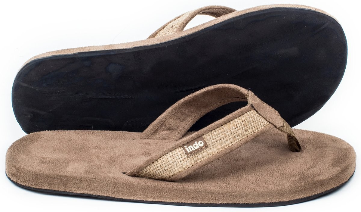 Indosole Women's Tan Burlap Sandal